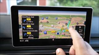 Audi A4 MMI Navigation plus mit MMI touch (2017) - Bedienung