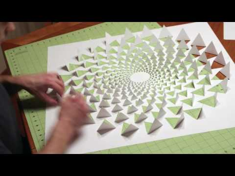 3D optical illusion mandala wall art using one sheet of paper
