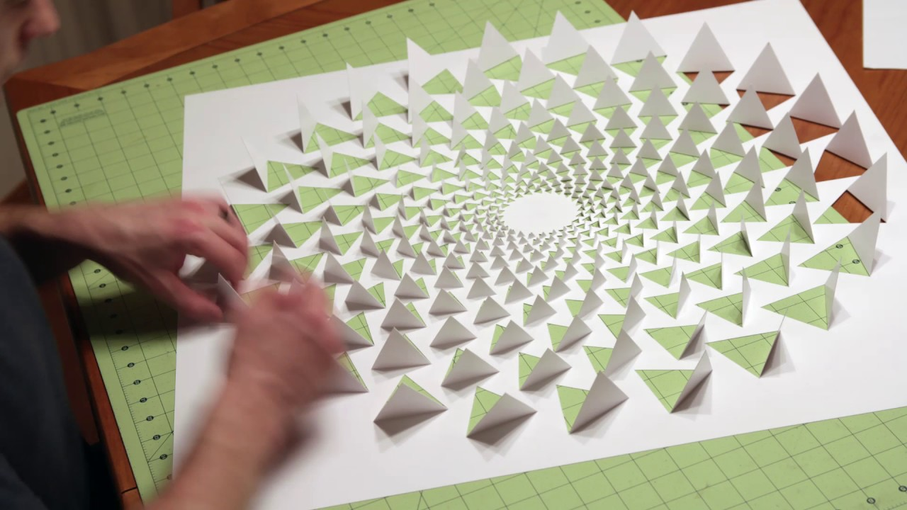 Paper Wall Art 3d optical illusion wall art made using one sheet of paper - youtube