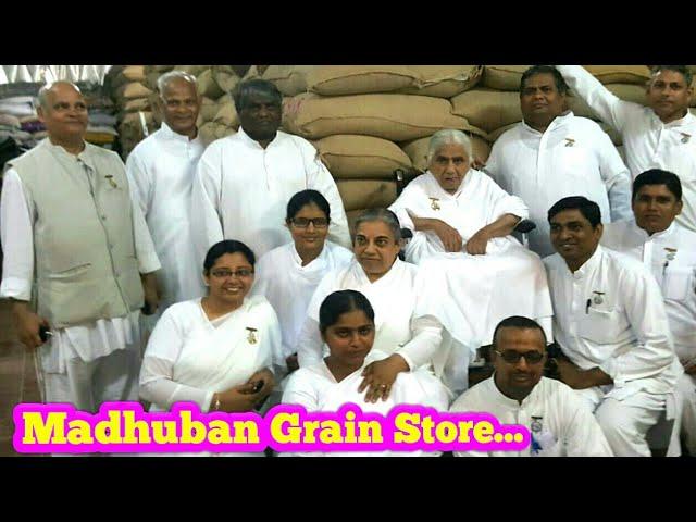 Janki Dadi ji visitedMadhuban theGrain Store department 18/9/2018...