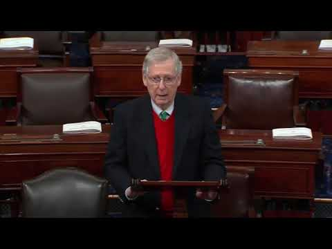 Mitch McConnell: No Voting Until President Trump & Democrats Come To Agreement 12/22/18
