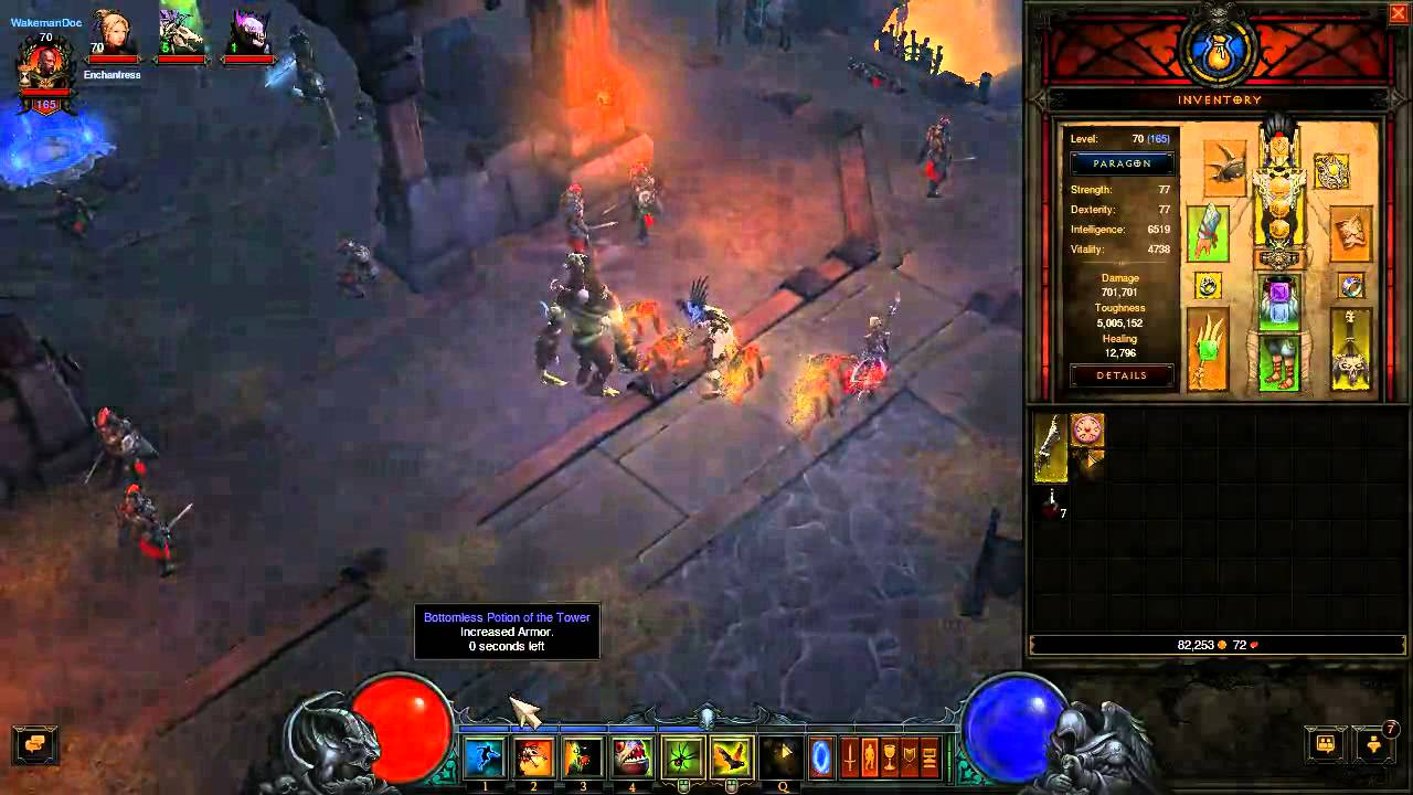 Diablo 3 Ros Legendary Potion Bottomless Potion Of The Tower Youtube