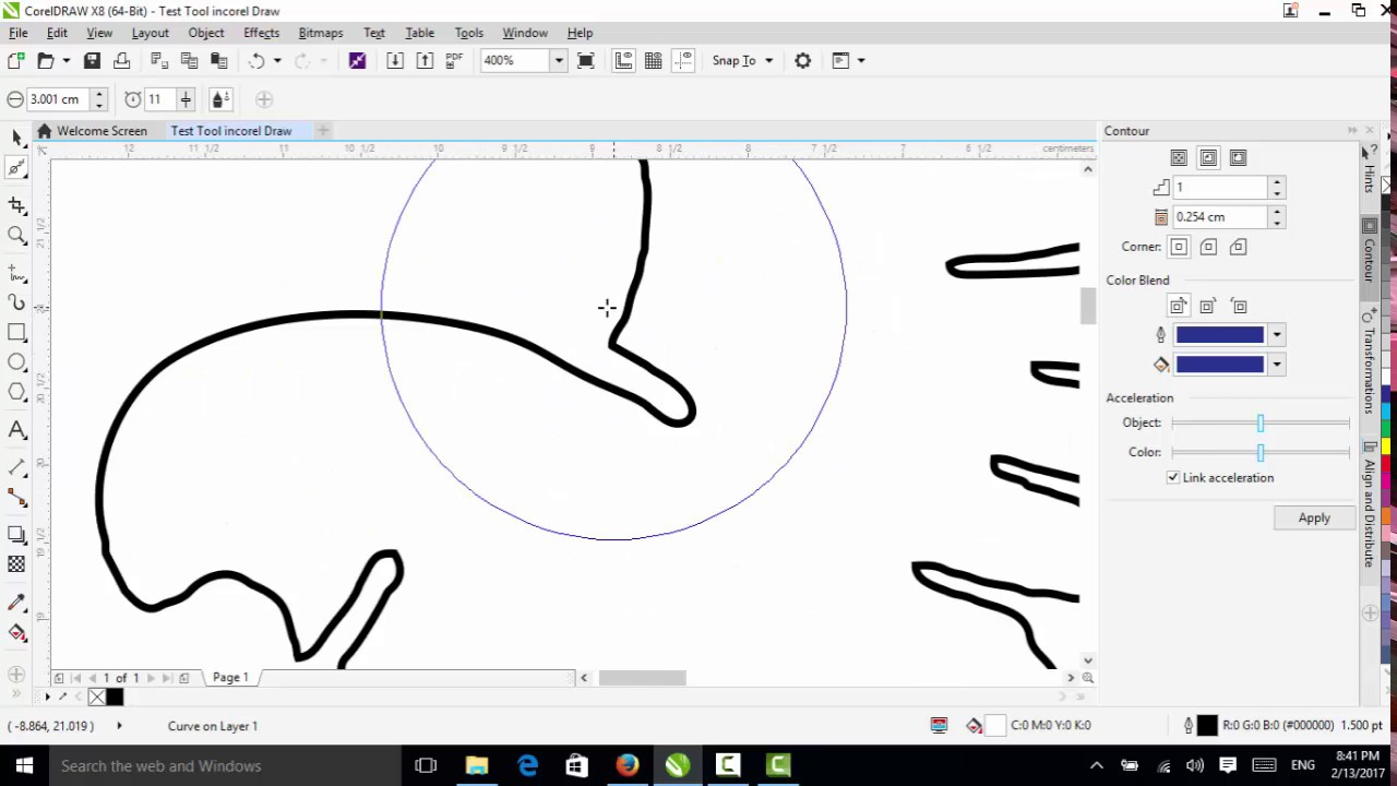 How To Use Smooth Tool In Coreldraw X8 Speak Khmer