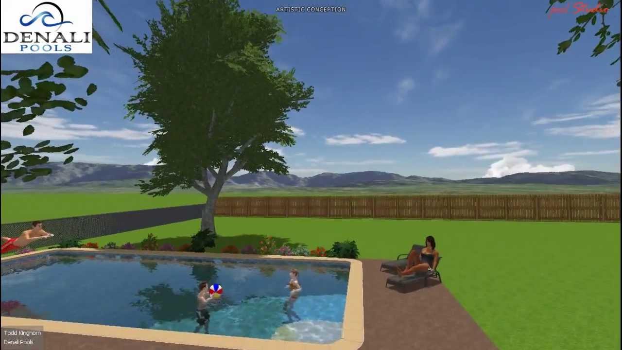 Green Round Rock Swimming Pool Builder Denali Pools