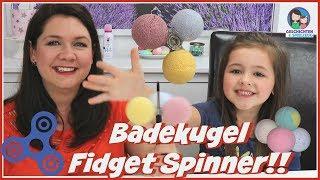 DIY Badebomben Fidget Spinner 💣 Fidget Spinner aus Bade Kugeln 🛀 Tinti Kugel Fidget Spinner