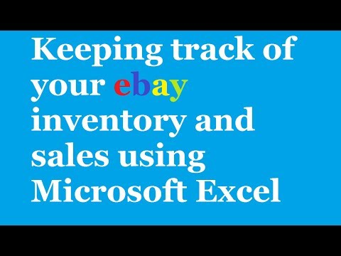 SELLING ON EBAY: Ebay Sales & Tracking Record Spreadsheet using Microsoft Excel