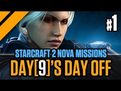 Day[9]'s Day Off StarCraft 2 Nova Missions P1