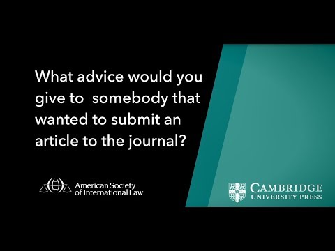Advice on how to submit to the American Journal of Internati