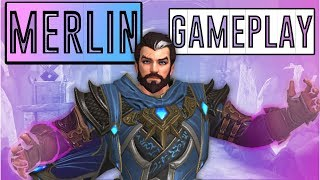 SMITE Merlin Gameplay: HARD TO PLAY BUT SUPER FUN! - PTS First Look