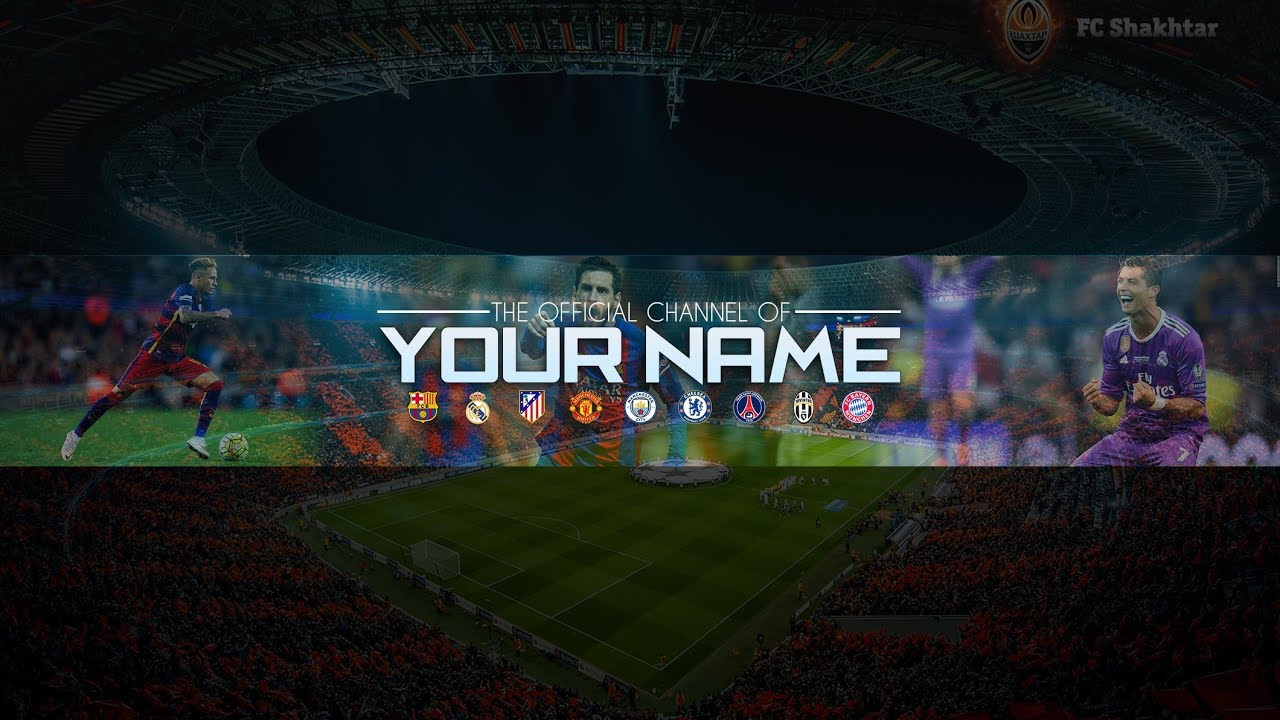 Free Football Banner Template For Youtube Channel 21 Photoshop I