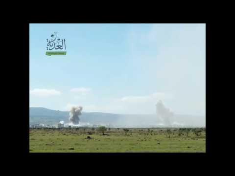 مراسل العدية يلتقط لحظات إجرام طائرات الاسد في الحولة