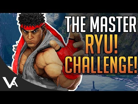 SFV - The Master, Ryu! Hardest Boss Yet!? Extra Battle Challenge For Street Fighter 5 Arcade Edition