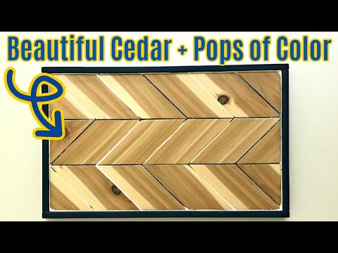 New DIY Wood Wall Art Project - From Cedar with a Chippy Paint Finish