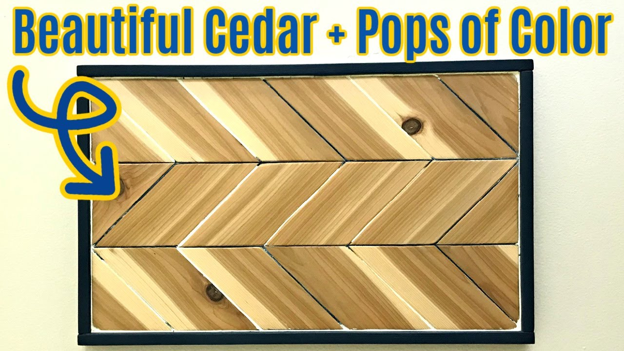New Diy Wood Wall Art Project From Cedar With A Chippy Paint Finish