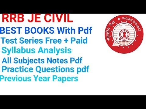 RRB JE CIVIL CBT2 BEST BOOKS, Expected Cutoff, Exam Pattern, Test Series,  Papers, Study Material pdf