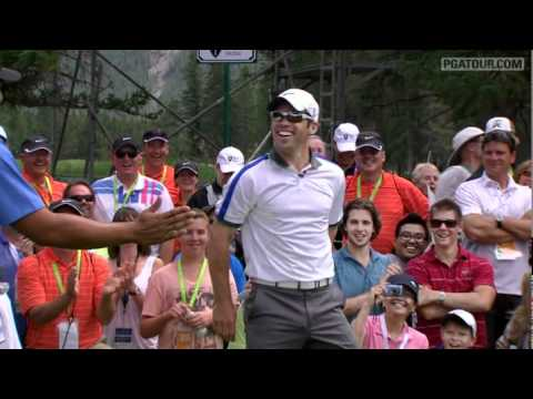 Paul Casey's incredible golf ball throw - YouTube