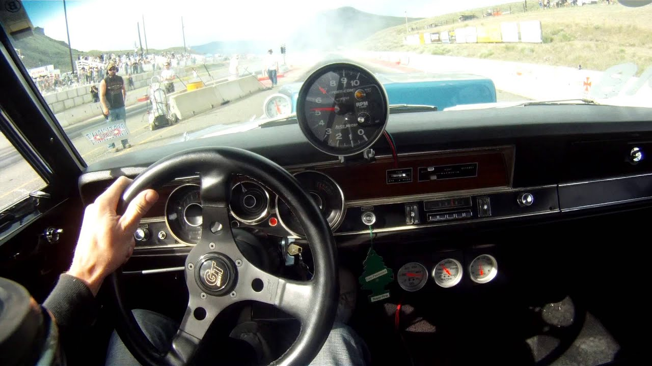 1970 Dodge Dart Prostreet Drag Racing GoPro Helmet Cam - YouTube