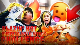 BWW BLAZING HOT-WING challenge !!** My Mouth Burned**