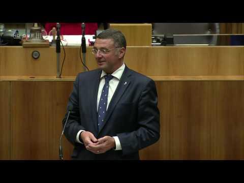 2017 06 30 134866 Nationalratssitzung zeitversetzt Infrastrukturminister Jörg Leichtfried SPÖ