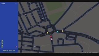 GOOGLE MAPS PAC MAN (Google Maps PacMan)