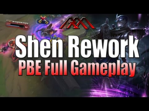 Shen Rework - Top Lane Gameplay - League of Legends