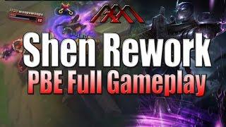 Shen Rework - Top Lane Gameplay - League of Legends