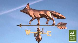 Gd655p Fox Weathervane Polished Copper