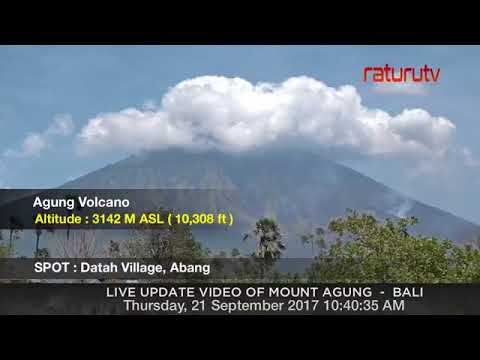 Mount Agung The volcano in Bali live real time ( Gunung Agung Recorded Version ) 21092017