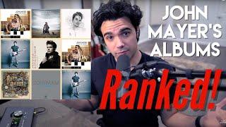 John Mayer's Albums RANKED! Detailed Review of All Studio Albums! #SobRock #JohnMayer #LastTrainHome