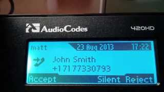 First Impression Review of Audiocodes 420HD Lync