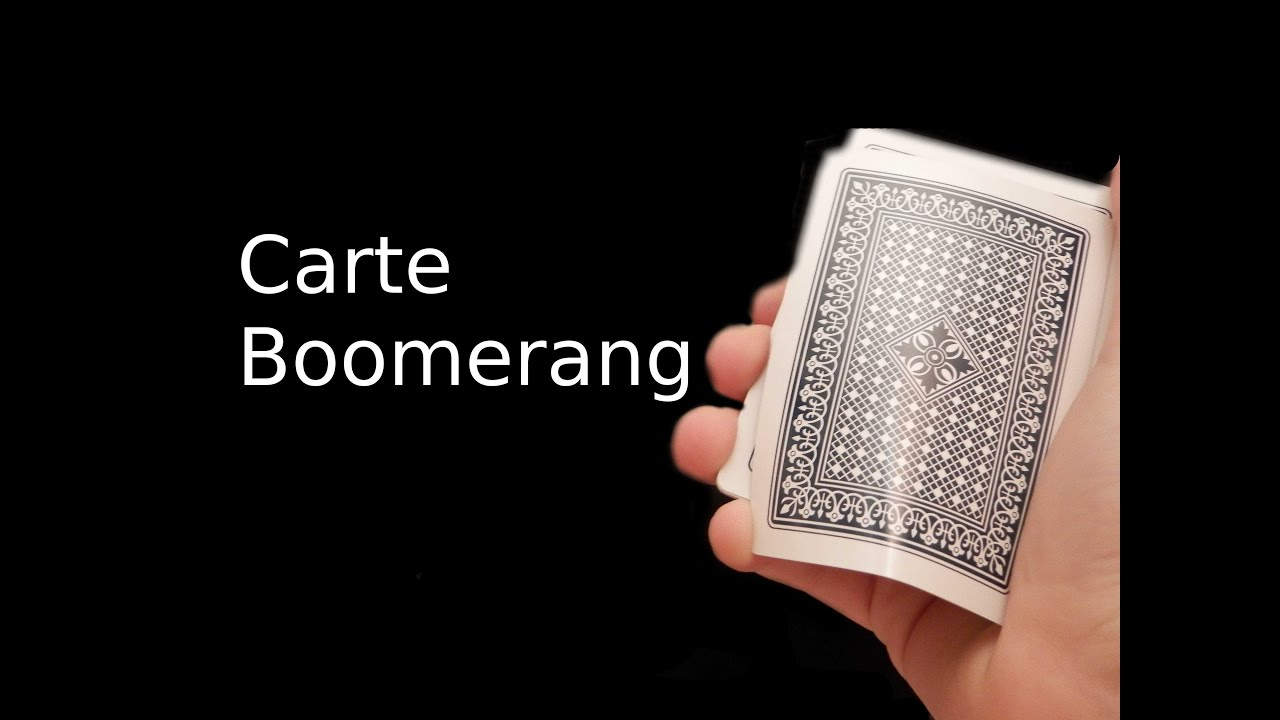 tour de magie carte boomerang explication
