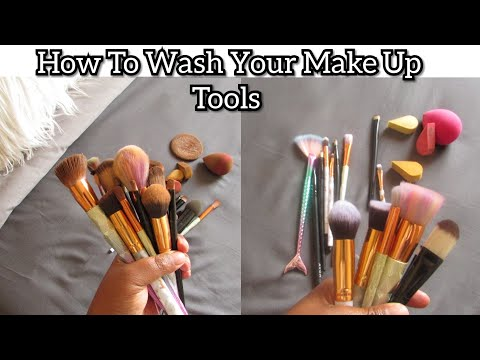 How To Clean Your Make Up Tools Using Sunlight Green Bar Soap | Azania Sibanyoni