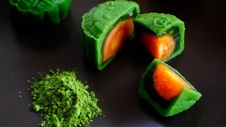 Green Tea Snowskin Mooncakes Recipe (Matcha Mooncakes) 绿茶冰皮月饼  Huang Kitchen