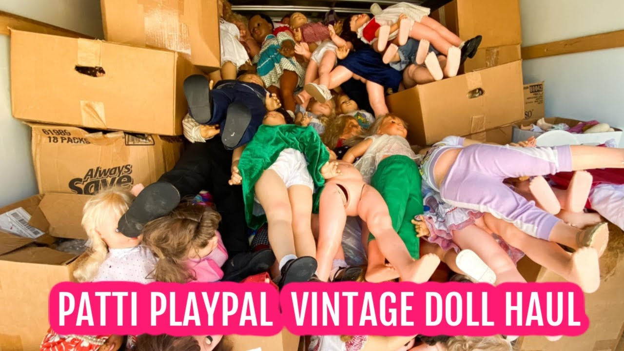 HUGE TRUCK LOAD OF PATTI PLAYPAL AND VINTAGE DOLLS AT MY DOLL SHOP | VINTAGE DOLL HAUL