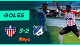 Junior vs. Millonarios (3-2)   Liga BetPlay Dimayor 2021-1 - Semifinal - Ida