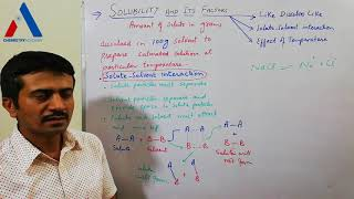 Solute-Solvent Interaction |Solubility and Its Factors| thumbnail