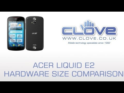 Acer E2 Hardware Size Comparison