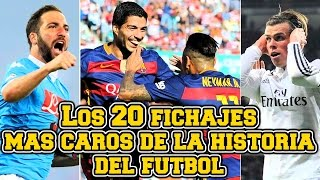 Los 20 fichajes más caros de la historia del fútbol | Neymar, CR7, Higuain, Luis Suarez...