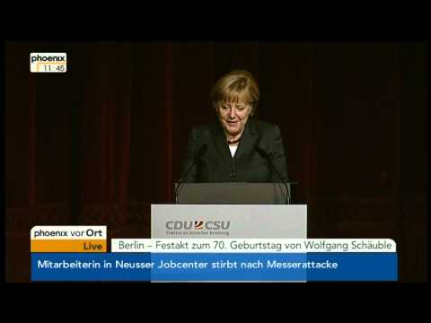 Festakt zum 70. Geburtstag Wolfgang Schäubles
