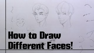 How to draw different faces! In different places!