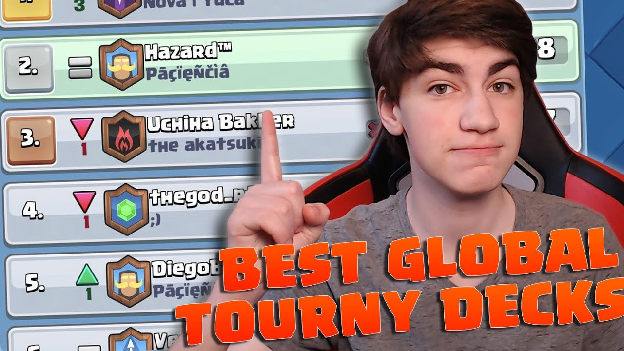 5 BEST DECKS for the GLOBAL TOURNAMENT!