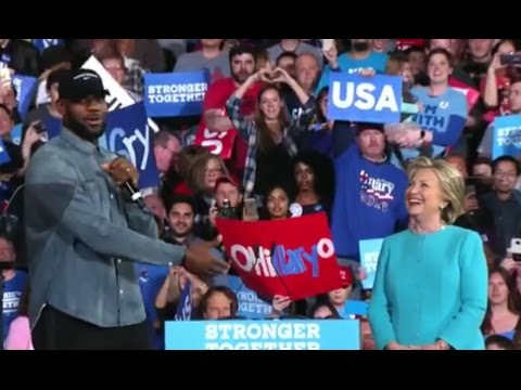 Lebron James Campaigns for Hillary Clinton in Ohio [FULL SPEECH]