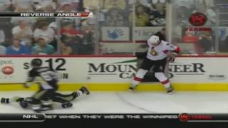 Andy Sutton DESTROYS Jordan Leopold-NHL Playoffs 2010(April 16,2010)