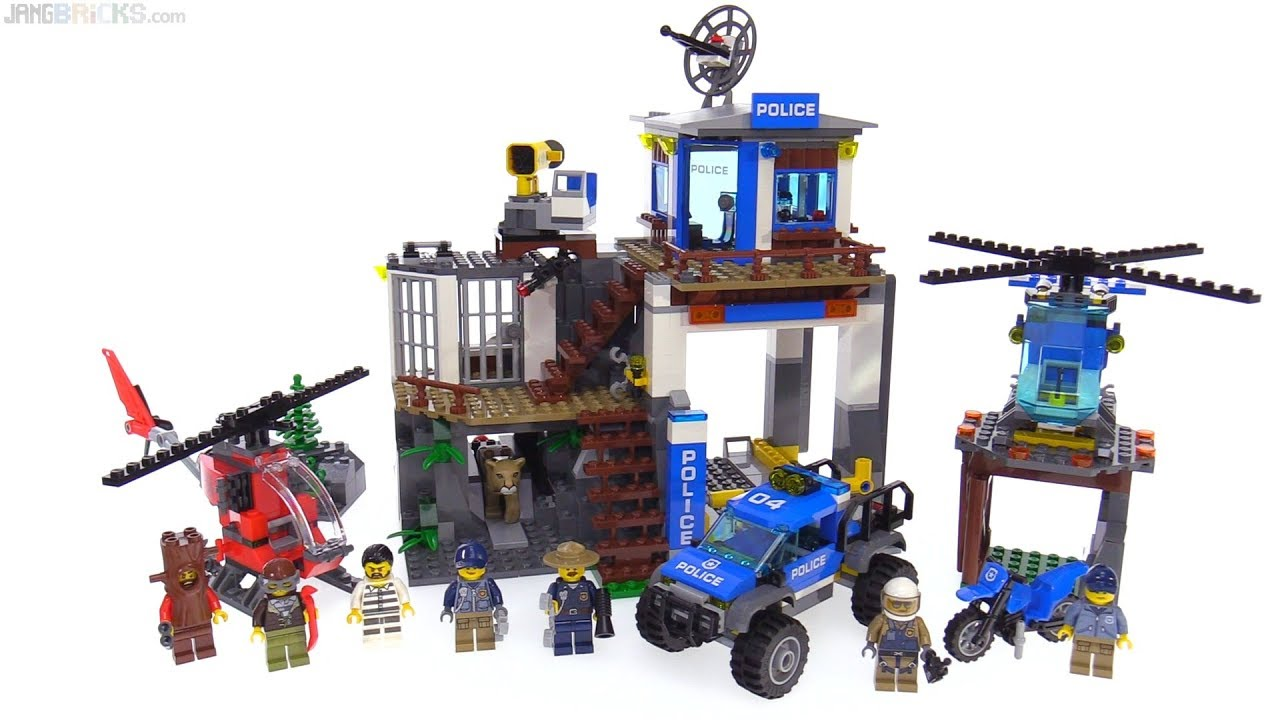 Lego City Mountain Police Headquarters Review 60174 Youtube