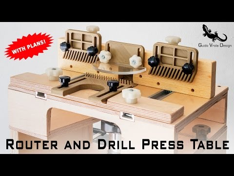 DIY | Portable Router Table and Drill Press Table 2 in 1 | With Plans