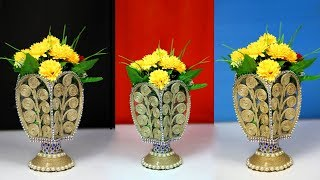 Beautiful flower vase decoration ideas with jute rope | Exclusive flower Vase Making from Jute Rope