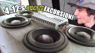 MAXED OUT Subwoofer Excursion w/ 4 12