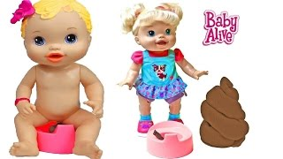 Baby Alive Potty Training Eating Walking Playing Doll Pooping Baby Doll Poop Potty Time