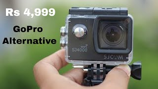 SJCAM SJ4000 wifi Action Camera Unboxing & Review with Video Test in hindi - Budget Motovlogging