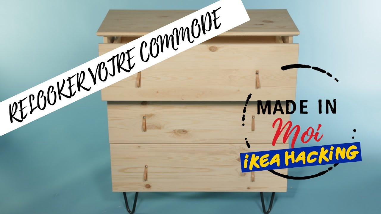made in moi comment relooker votre commode ikea youtube. Black Bedroom Furniture Sets. Home Design Ideas